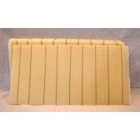 "Shallow Beeswax Foundation 4 3/4"" Wired No Hooks"